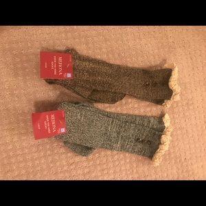 NWT 2 pairs Merona over the knee boot socks 4-10